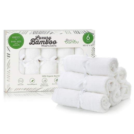 House oF Bambu Baby Washcloths Set