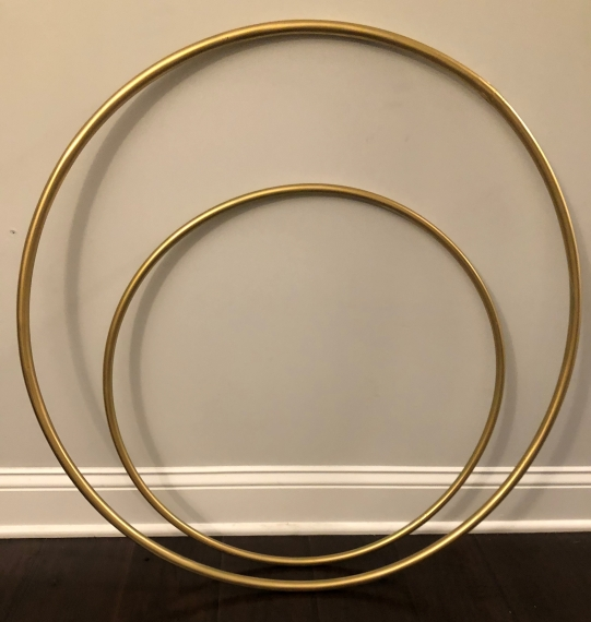 DIY HULA HOOP PHOTO FRAME GOLD