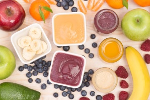 Homemade baby food puree, first foods
